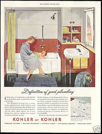 Kohler Bathroom Fixtures Bath Time (1951)