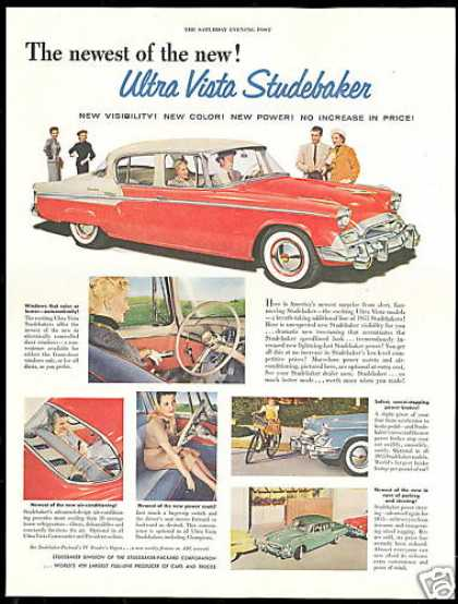 Studebaker 4 Door Car Photo Vintage (1955)