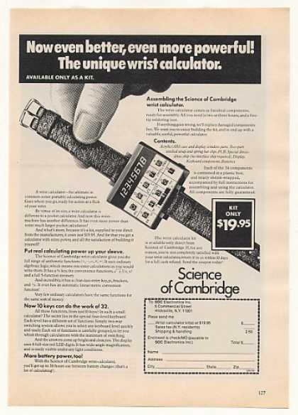 Science of Cambridge Wrist Calculator Kit (1977)