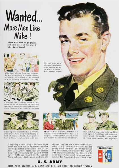 Vintage Military War And Army Recruiting Ads Of The 1950s