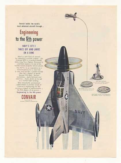 US Navy Convair XFY-1 Aircraft (1954)