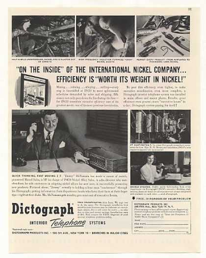 '48 INCO Nickel Dictograph Interior Telephone System (1948)