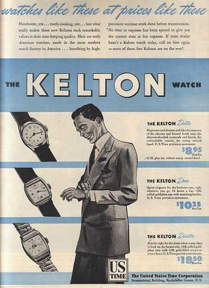 Kelton's Men's Watches (1946)