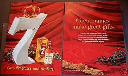 Seagram's 7 Crown Whisky X-mas (1954)