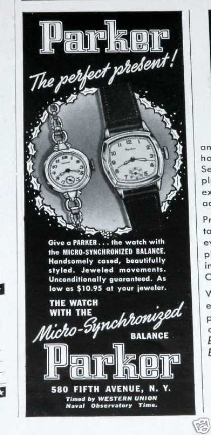 Old , Parker Watch, Synchroniz (1939)