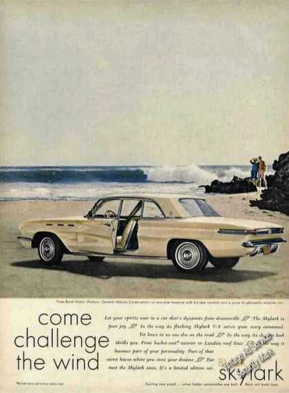 Buick Skylark On Ocean Beach Challenge the Wind (1961)