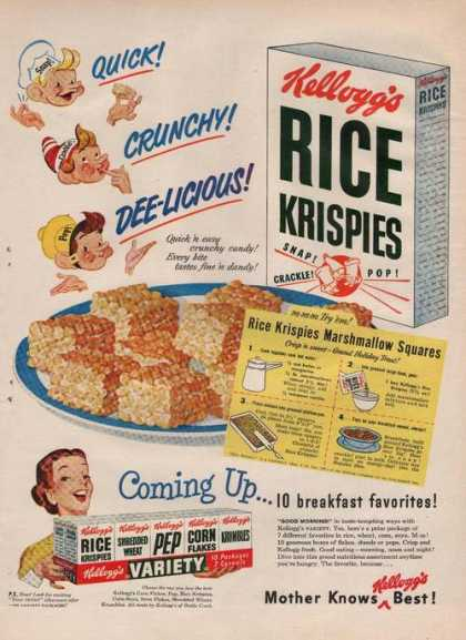 Kelloggs Rice Krispies Cereal (1949)