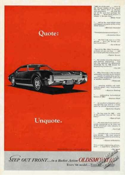 "Oldsmobile Toronado ""Quote: Unquote."" (1966)"