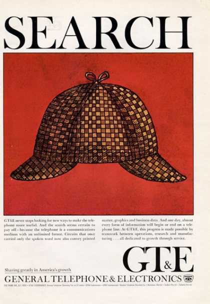Gt&e General Telephone & Electric P I Hat (1965)