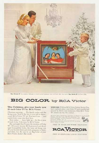 RCA Victor Director 21 Mahogany Color TV (1955)
