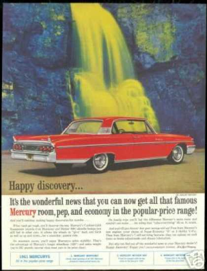 Red Mercury Monterey 2 Dr Waterfall Art (1961)