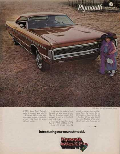 Plymouth Newest Model Sport Fury Car (1969)