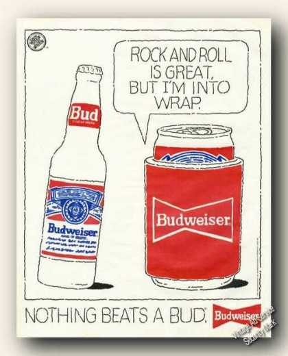 Budweiser Drawings I'm Into Wrap Beer Promo (1991)