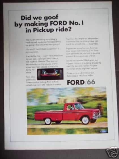 Ford Pickup Pu Truck for '66 Original Photo (1965)