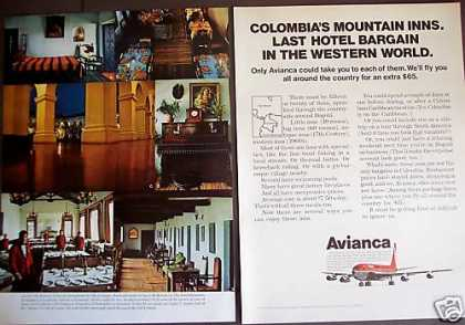 Columbia's Mountain Inns Avianca Airline Travel (1971)