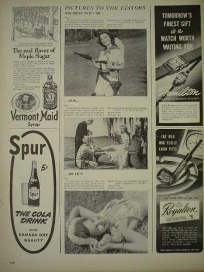 Vermont Maid Syrup AND Spur Cola Drink (1944)
