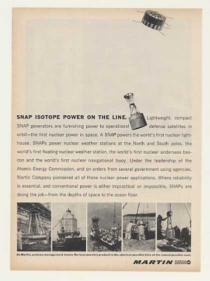 Martin SNAP Nuclear Power Generator (1964)