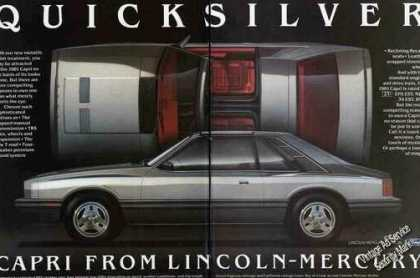 "Mercury Capri ""Quicksilver"" Large 2 Pg Car (1981)"