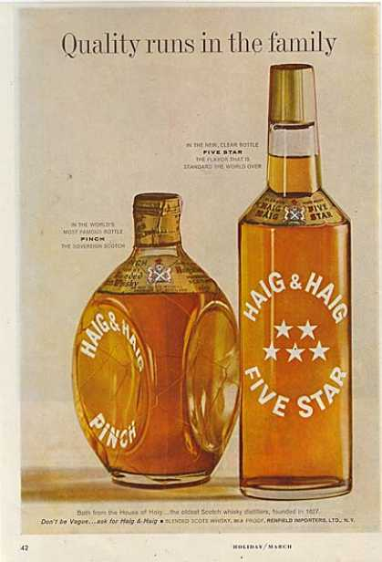 Haig & Haig's Scotch Whisky (1960)