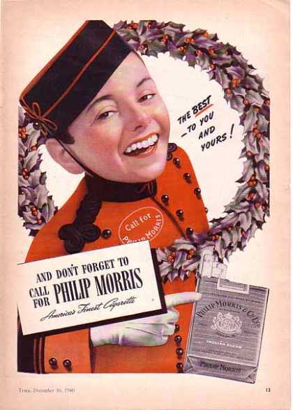 Philip Morris Cigarettes Christmas – The Best To You and Yours (1940)