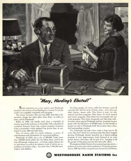 "Westinghouse Radio Station's Radio Stations – ""Mary, Harding's Elected!"" (1948)"