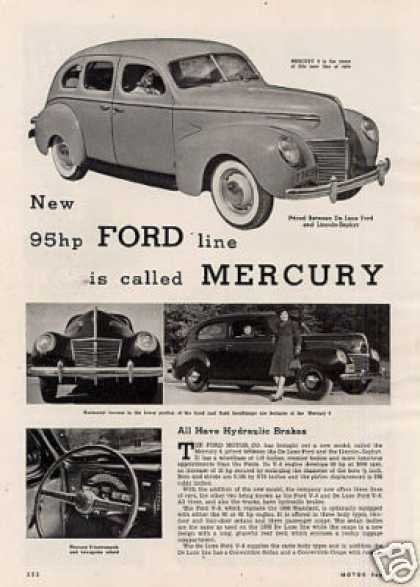 """New 95hp Ford Line Is Called Mercury"" Article (1938)"