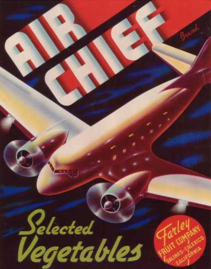 Air Chief Vegetable Label – Salinas, CA