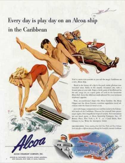 Alcoa Cruises To the Caribbean Travel (1947)