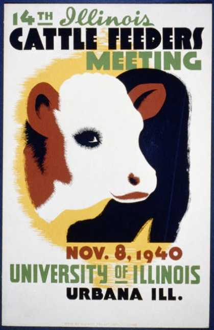 14th Illinois cattle feeders meeting – Nov. 8, 1940, University of Illinois, Urbana, Ill. (1940)