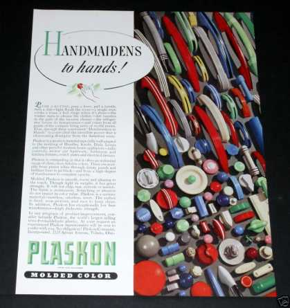 Plaskon Molded Parts, Color (1939)