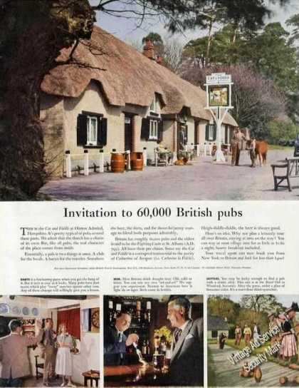 Cat and Fiddle Pub Hinton Admiral Hampshire Uk (1958)