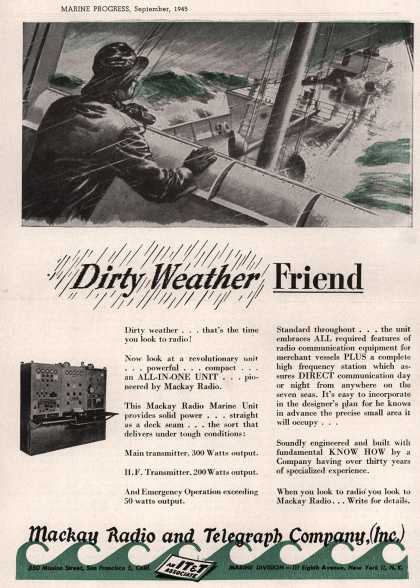 Mackay Radio and Telegraph Company's Shipboard Radio Transmitter – Dirty Weather Friend (1945)