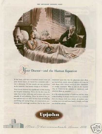 "Upjohn Pharmaceuticals Ad ""Your Doctor... (1942)"