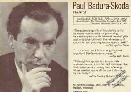 Paul Badura-skoda Photo Piano Booking (1971)
