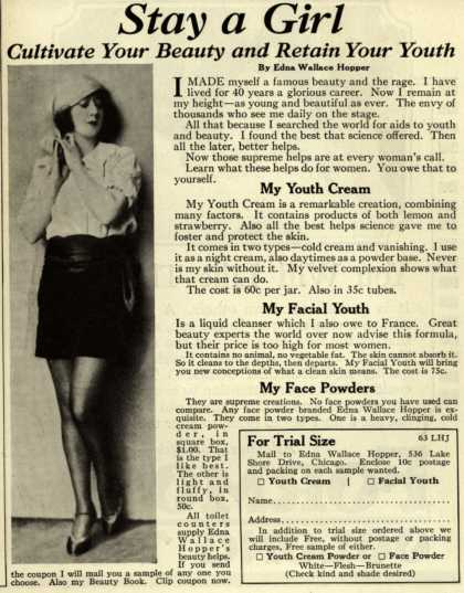 Edna Wallace Hopper – Stay a Girl – Cultivate Your Beauty and Retain Your Youth (1926)