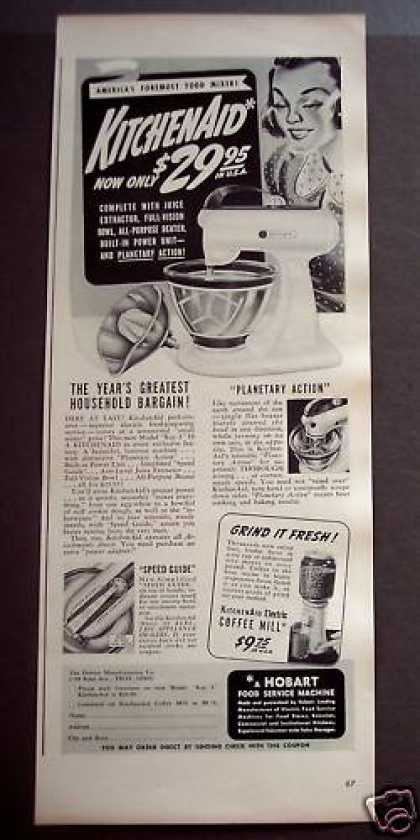 Kitchenaid Food Mixer Appliance (1939)