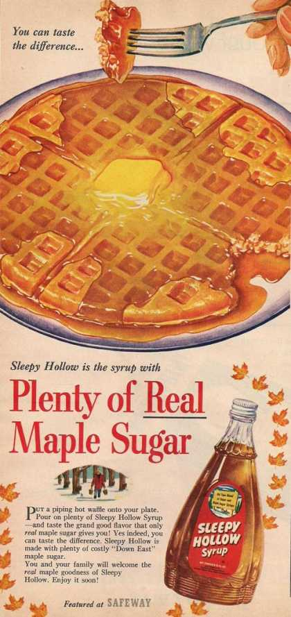 Sleepy Hollow Pancake Syrup (1953)
