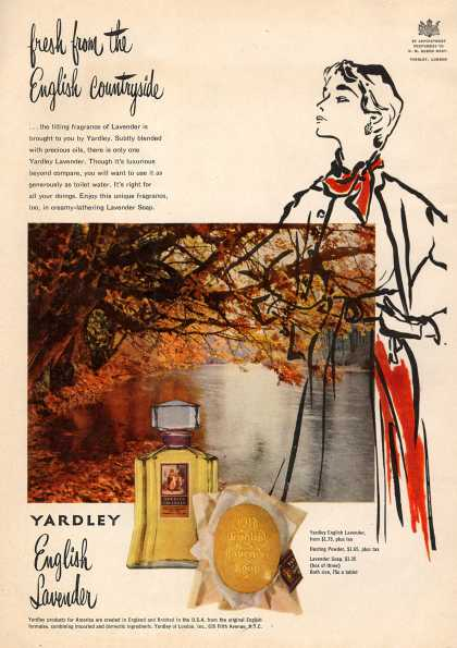 Yardley of London's English Lavender Cosmetics – Fresh from the English countryside (1951)