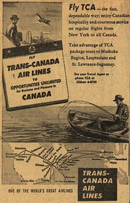 Trans-Canada Air Lines – Fly TCA (1954)