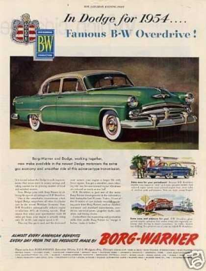 Borg-warner Ad Dodge Car (1954)