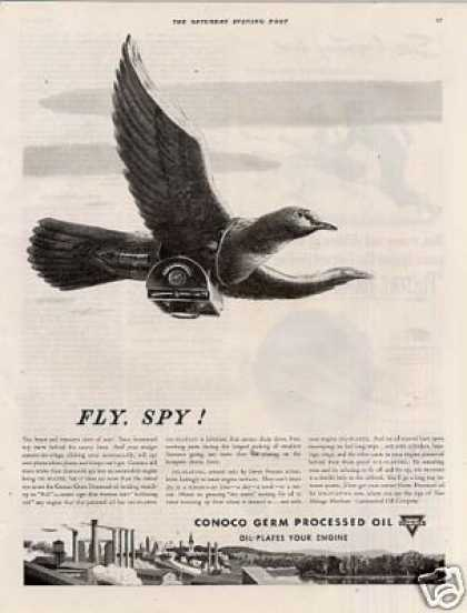 "Conoco Oil Ad ""Fly, Spy... (1939)"