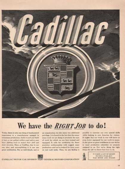 Cadillac We Have the Right Job To Do Print (1942)