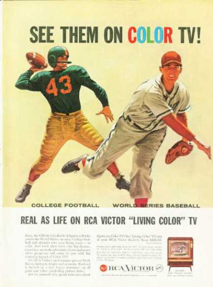 Rca Television Ad Baseball Football (1958)