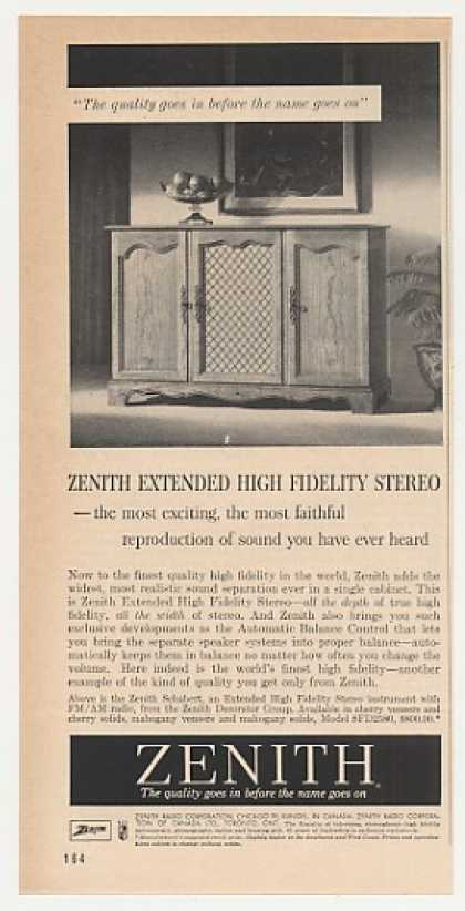 Zenith Schubert Extended High Fidelity Stereo (1960)