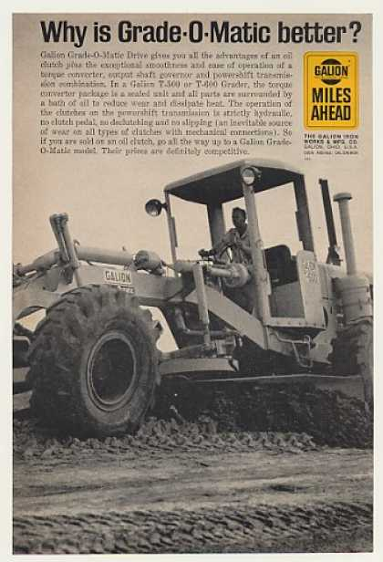 Galion Grade-O-Matic Drive T-600 Grader Photo (1964)
