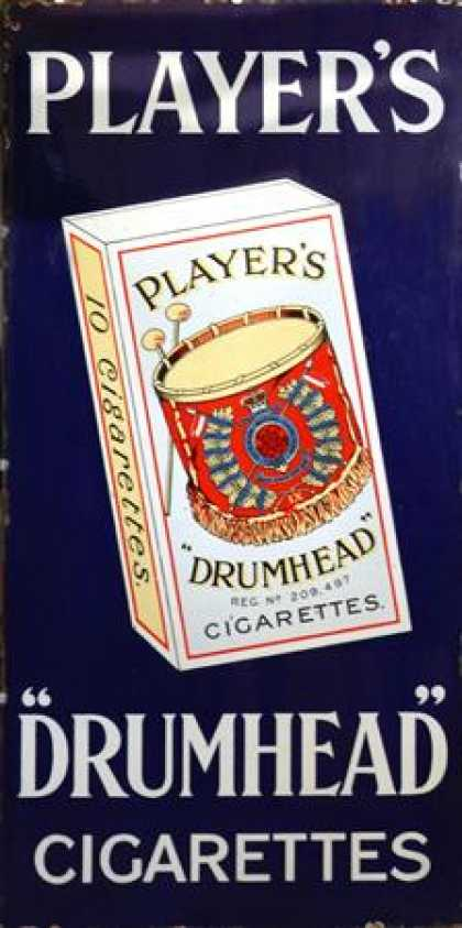 Player's Drumhead Cigarettes Sign