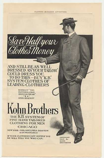 Kohn Brothers Clothes Clothing Man Suit (1905)