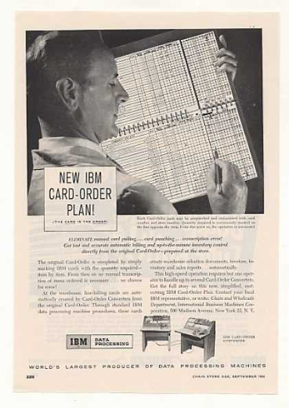 IBM Card-Order Plan Data Processing Machine (1955)