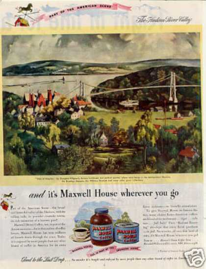 Maxwell House Coffee Ad Georgina Klitgaard Art (1946)