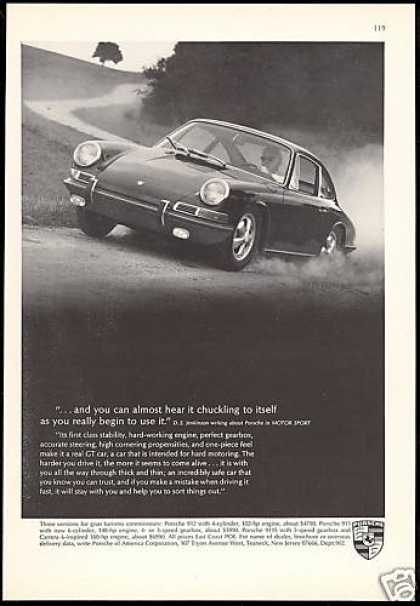 Porsche 911 Car Driving Fast Photo Vintage (1967)